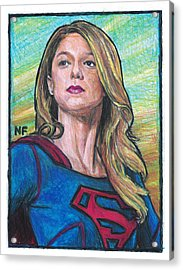 Supergirl As Portrayed By Actress Melissa Benoit Acrylic Print by Neil Feigeles