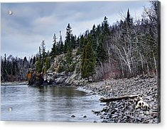Acrylic Print featuring the photograph Superior Cliffs by Larry Ricker