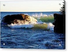 Superior November Waves Acrylic Print by Sandra Updyke