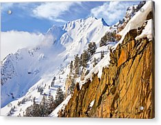 Superior Peak In The Utah Wasatch Mountains  Acrylic Print by Douglas Pulsipher