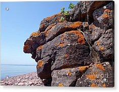 Superior Rock Outcrop Acrylic Print