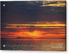 Superior Sky At Sunrise Acrylic Print by Sandra Updyke