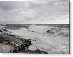 Superior Wild Waves Acrylic Print by Sandra Updyke