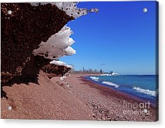 Superior Winter Beach Acrylic Print