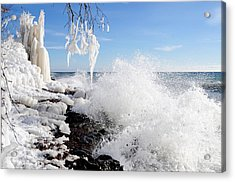 Superior Winter Day Acrylic Print by Sandra Updyke