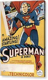 Superman, 1941 Acrylic Print by Everett