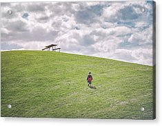 Superman And The Big Hill Acrylic Print