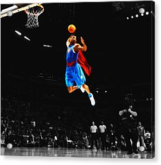 Superman Dwight Howard Acrylic Print by Brian Reaves