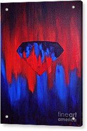 Superman Acrylic Print by Herschel Fall
