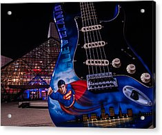 Superman Rocks Acrylic Print