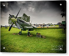 Supermarine Spitfire Acrylic Print by Adrian Evans