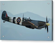 Supermarine Spitfire Lf9c N959rt Chino California April 29 2016 Acrylic Print by Brian Lockett