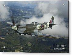 Supermarine Spitfire Mk.xvi Fighter Acrylic Print by Daniel Karlsson