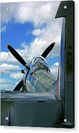 Supermarine Spitfire Acrylic Print by Paul Wash