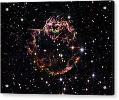 Acrylic Print featuring the photograph Supernova Remnant Cassiopeia A by Marco Oliveira