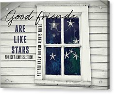 Superstars Quote Acrylic Print by JAMART Photography