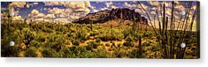 Superstition Mountain And Wilderness Acrylic Print