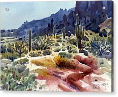 Superstition Mountain Acrylic Print by Donald Maier