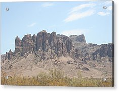 Superstition Mountain Acrylic Print by Gregory Jeffries