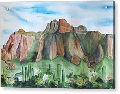 Superstition Mountain Acrylic Print by Vivian Larson