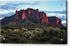Superstition Mountains Colors Acrylic Print