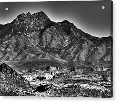 Four Peaks From Lost Dutchman State Park Acrylic Print