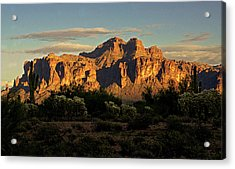 Superstitions At Sunset  Acrylic Print