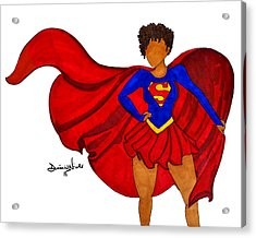 Superwoman I Am  Acrylic Print by Diamin Nicole