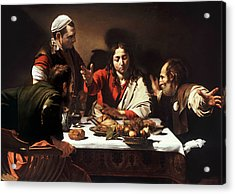 Supper At Emmaus Acrylic Print by Caravaggio