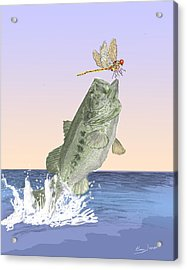 Supper Time Acrylic Print by Barry Jones
