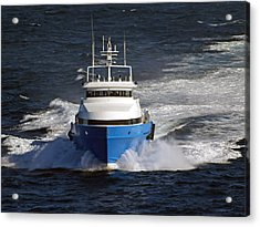 Supply Boat  Acrylic Print by Bill Perry
