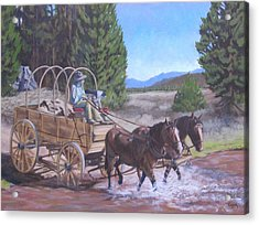 Supply Wagon Acrylic Print