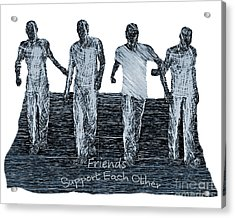 Acrylic Print featuring the digital art Support Each Other by Lance Sheridan-Peel