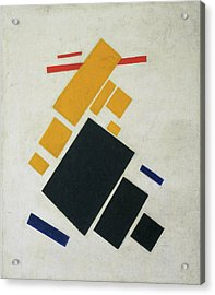 Suprematist Composition - Airplane Flying Acrylic Print