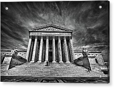 Supreme Court Building In Black And White Acrylic Print