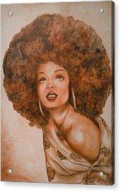 Miss Diana  Acrylic Print by Jenny Pickens