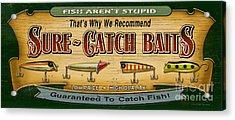 Sure Catch Baits Sign Acrylic Print