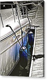 Sure-thing Boat Acrylic Print by Gwyn Newcombe