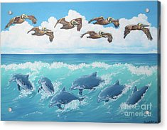 Surf And Soar Acrylic Print
