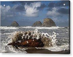 Surf And Three Arch Rocks Acrylic Print