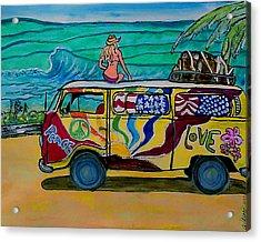 Surf Art/vw Bus Acrylic Print