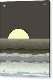 Surf At Moonrise Acrylic Print