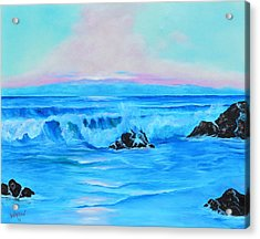 Surf At Sunset  Acrylic Print by Lloyd Dobson