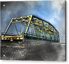 Surf City Nc Swing Bridge Acrylic Print by Betsy Knapp
