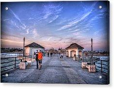 Surf City Pier Acrylic Print by Spencer McDonald