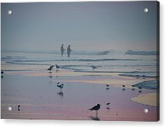 Acrylic Print featuring the photograph Surf Fishing In Wildwood by Bill Cannon