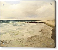 Surf Lace Acrylic Print by Ken Ahlering