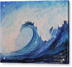 Acrylic Print featuring the painting Surf No.2 by Teresa Wegrzyn