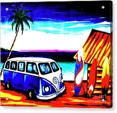 Surf Shack Blue, The Bali Collection Acrylic Print