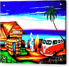 Surf Shack Red, The Bali Collection Acrylic Print